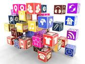 Iconos de aplicaciones — Foto de Stock