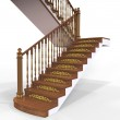 Wooden staircase — Stock Photo