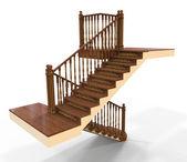 Escada de madeira — Foto Stock