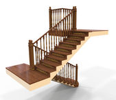木製の階段 — ストック写真