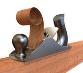 Planer on wood — Stock Photo