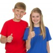Two children together — Stock Photo #12091273