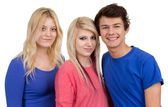 Three teenagers together — Stock Photo