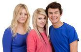 Trzy nastolatki razem — Zdjęcie stockowe
