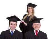 Trzech absolwentów — Zdjęcie stockowe