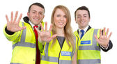 Security guard team — Stock Photo