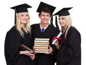 Trio mezuniyet — Stok fotoğraf