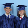 Foto Stock: Graduate children
