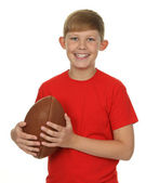 Child with a rugby ball — Stock Photo