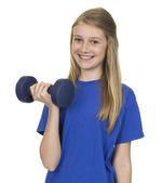 Portrait Of Happy Girl With Weigh Lift — Foto Stock
