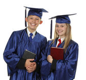 Two Happy Students Holding Books — Stock Photo