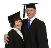 Happy Senior Graduate Couple — Stock Photo