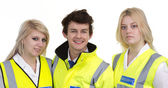 Man And Woman Wearing High-visibility Jacket — Stock Photo