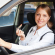 Stock Photo: Alluring womdriving car
