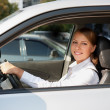 Female at wheel of her car — Stock Photo #13771976
