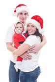 Festive family waiting for christmas — Stock Photo