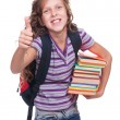 Girl holding books — Foto de Stock