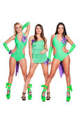 Three alluring go-go dancers — Stock Photo