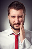 Man have a toothache — Stock Photo