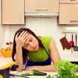 Stock Photo: Fatigued woman