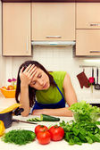 Fatigued woman — Stock Photo