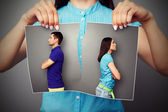 Photo of young couple in quarrel — Stock Photo
