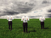 Faceless businessmen — Stock Photo