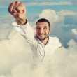 Smiley and happy man flying — Stock Photo #30006185