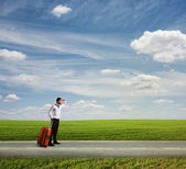 The long way to vacation — Stock Photo