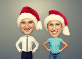 Funny picture of christmas couple — Stock Photo