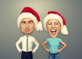Funny picture of santa couple — Stock Photo