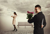 Cunning man going to metting — Stock Photo