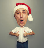 Man with big head showing thumbs up — Stock Photo