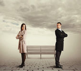 Couple in quarrel — Stock Photo