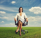 Successful beautiful businesswoman — Stock Photo