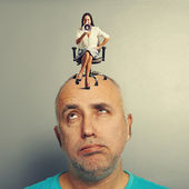Tired man and angry woman — Stock Photo