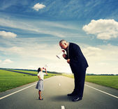 Angry businesswoman and businessman — Foto de Stock