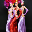 Beautiful trio in stage costumes — Stock Photo #5157188