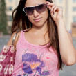 Pretty young woman in sunglasses — Stock Photo #5160478