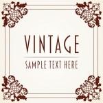 Decorative Vintage Frame — Stock Vector