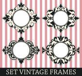 Set vintage frames — Stockvektor