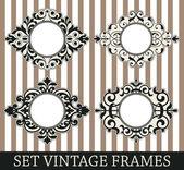 Set vintage frames — Stok Vektör