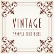 Decorative Vintage Frame — Stock Vector #13354973