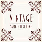 Dekoratif vintage çerçeve — Stok Vektör