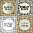 Stock Vector: Set of vintage frame