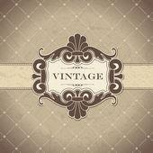 Vintage-rahmen — Stockvektor