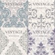 Set of pattern on vintage background - Stock Vector