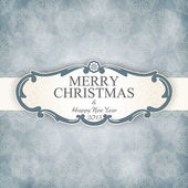 Christmas vintage frame — Stock Vector