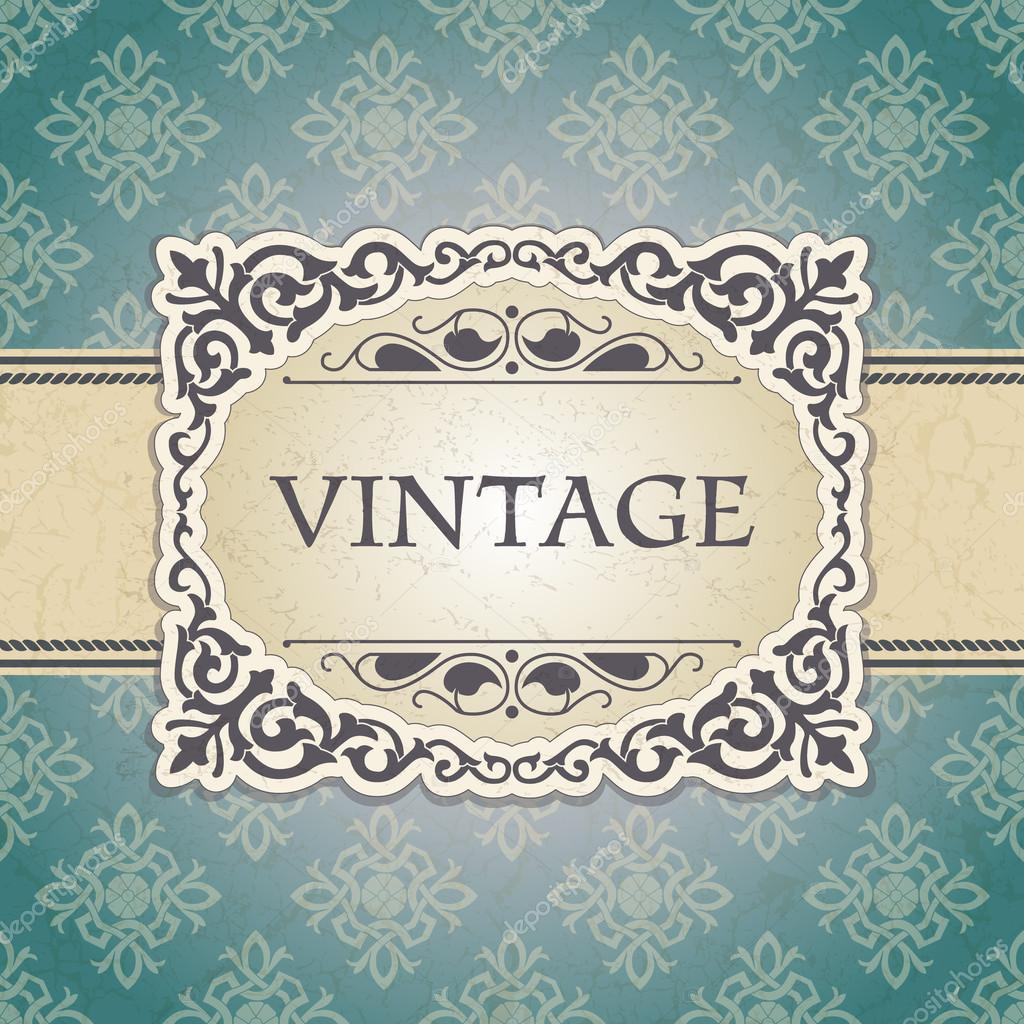 The vector image Vintage frame — Stock Vector #14724623