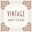 Decorative Vintage Frame — Stock Vector #15275669